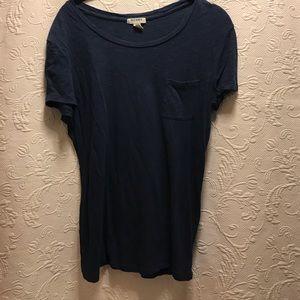 Old Navy Scoop Neck Navy T-shirt Navy size M
